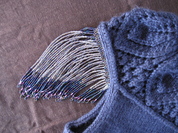Beaded fringe close-up