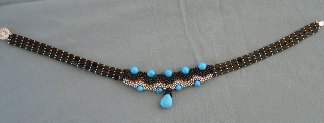 Art Deco Magnesite Choker by Bonnie Van Hall
